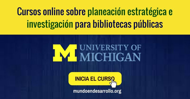 Cursos online sobre planeación estratégica para bibliotecas públicas