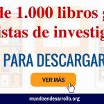Portal con más de 1.000 libros gratis y revistas de investigación para descargar
