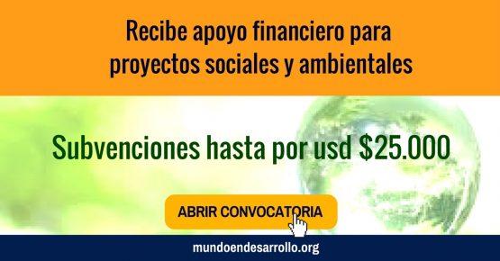 Recibe apoyo financiero para proyectos sociales y ambientales