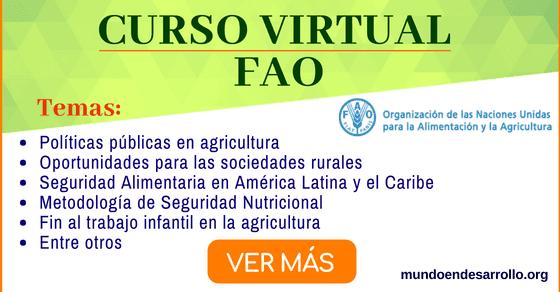 Cursos online gratis de la FAO sobre políticas públicas en agricultura y más