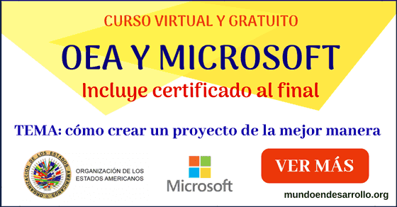 OEA y Microsoft ofrecen su curso online gratis CERTIFICADO sobre proyectos