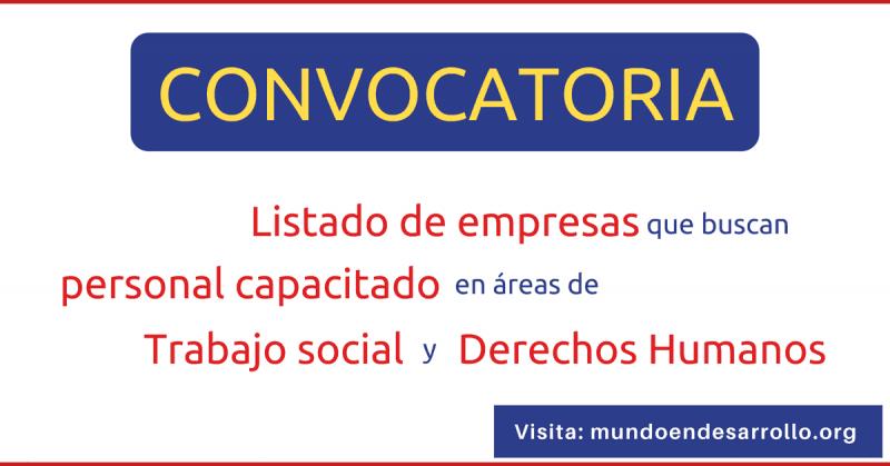ofertas de empleo en organizaciones de derechos humanos