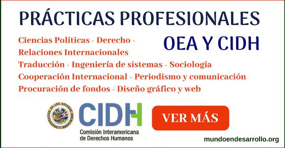 Prácticas profesionales en la CIDH y la OEA en los Estados Unidos para latinos