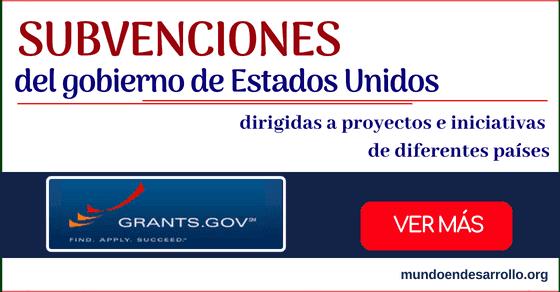 Programa de subvenciones del gobierno de los Estados Unidos - Grants.gov