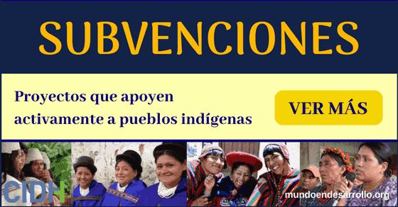 Subvenciones para proyectos que apoyen activamente a pueblos indígenas