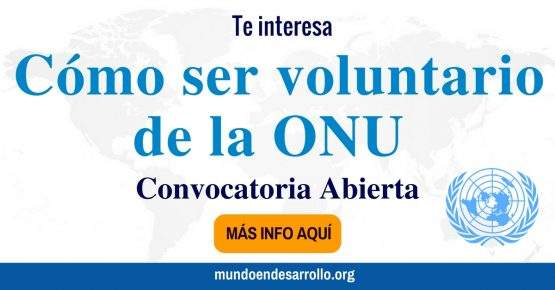 Convocatoria voluntariado Naciones Unidas