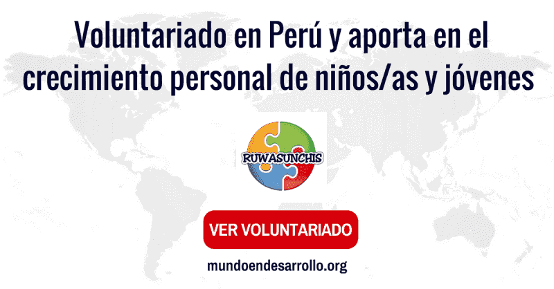 voluntariado en peru