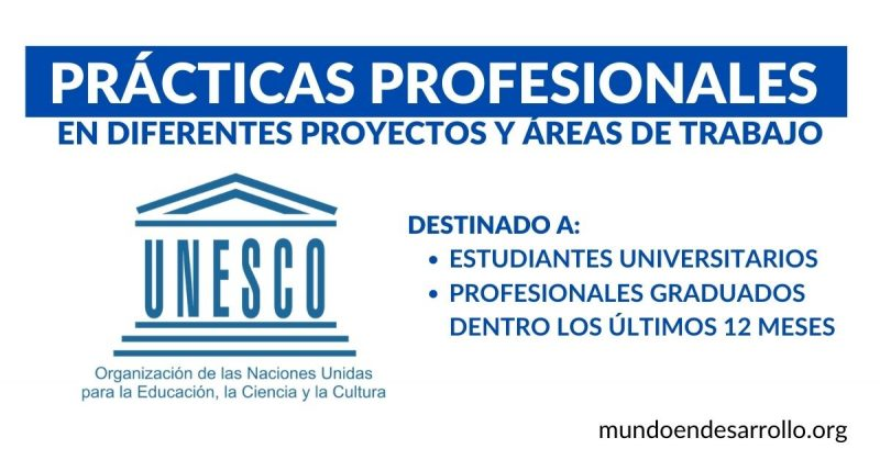 practicas profesionales UNESCO