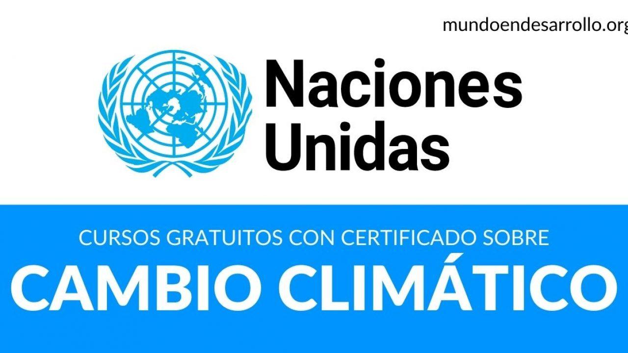 Cursos Online Gratuitos Con Certificado De Las Naciones Unidas