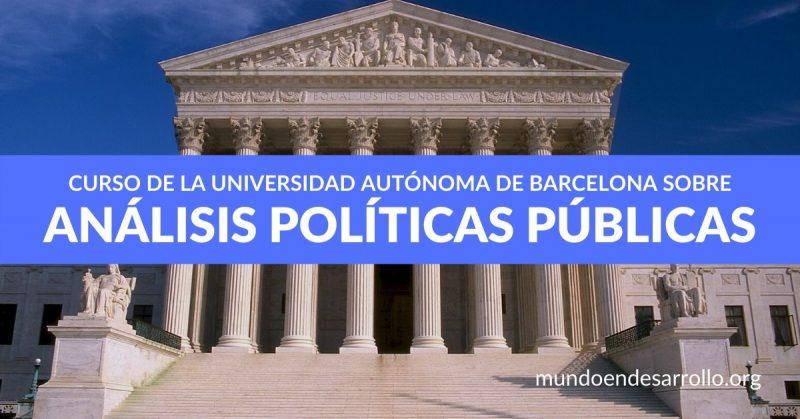 Curso de la Universidad Autónoma de Barcelona sobre análisis de políticas públicas
