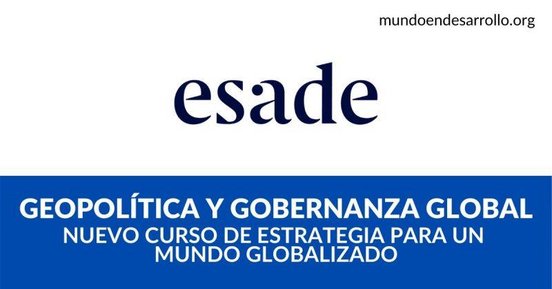 Geopolítica y gobernanza global Curso de estrategia para un mundo globalizado