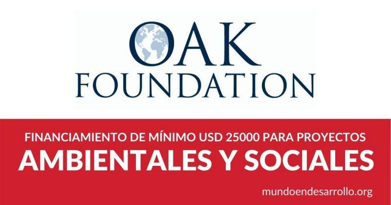financiamiento proyectos sociales ambientales