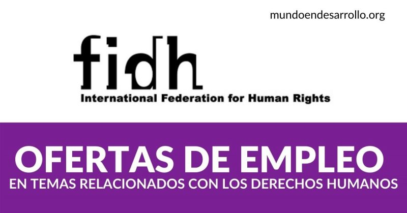 ofertas empleo derechos humanos