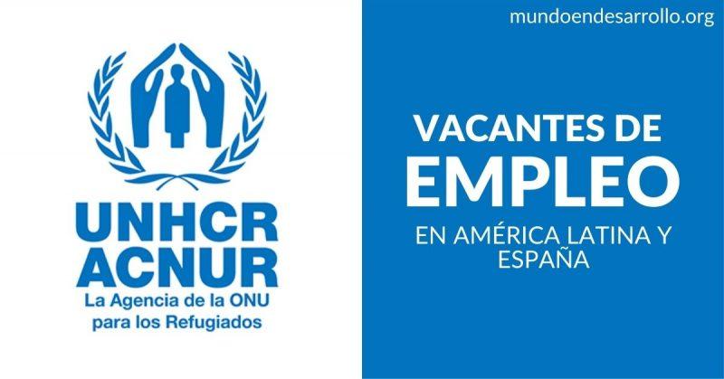 vacantes empleo ACNUR